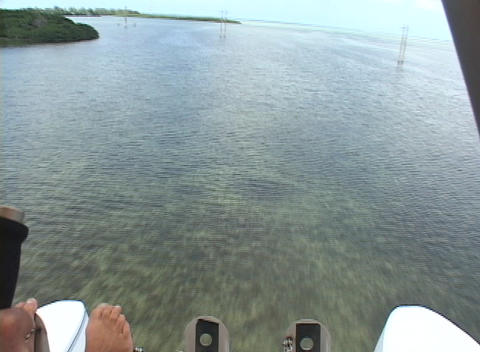 A Pilot In An Ultralight Airplane Lands In The Ocean stock footage
