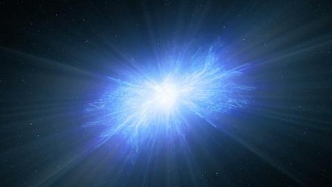 Blue Galactic explosion Animation