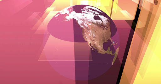 Digital Particle Animation of the Earth with floating Sheets Animation