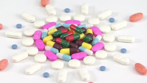 Pills medicine rotating Footage