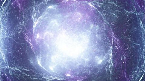 Blue and violet nebula Animation