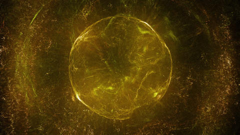 Orange and brown spherical object Animation