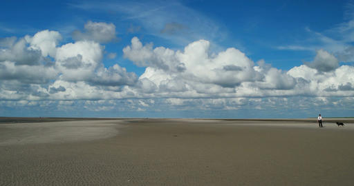 On The North Sea Beach of St. Peter-Ording Footage