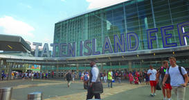 Staten Island Ferry Entrance Establishing Shot Footage