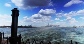 Lower Manhattan Skyline as Seen from Staten Island Ferry Footage