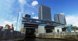Passenger's POV Staten Island Ferry Docking at Manhattan Port Footage