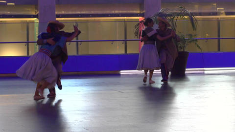 Professionals dancers performing Argentina traditional dance, Chamamé Footage
