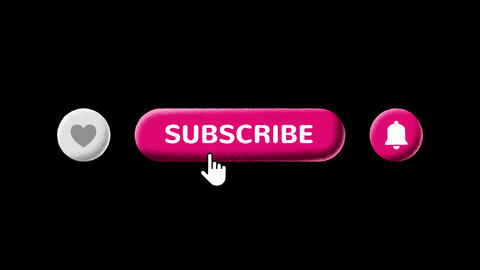 Grain Shaded Like Subscribe and Notifications Buttons with Luma Matte Animation