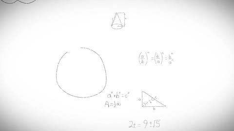 Math formulas on whiteboard Live-Action