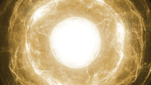 Yellow source of light and energy Animation