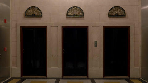 Vintage fully restored elevators doors Footage