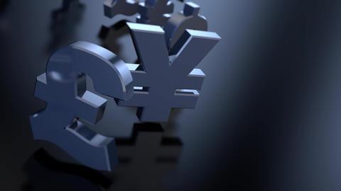 4K Money Sign Symbols Animation