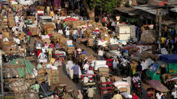 TIMELAPSE Crowded spice market loading and unloading,New Delhi,India Footage