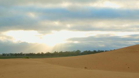 Morning sunrise sand dune desert outback Australia landscape Footage