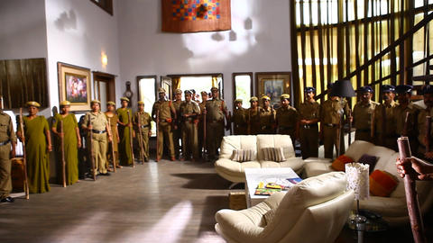 Interior of Indian police station Filmmaterial