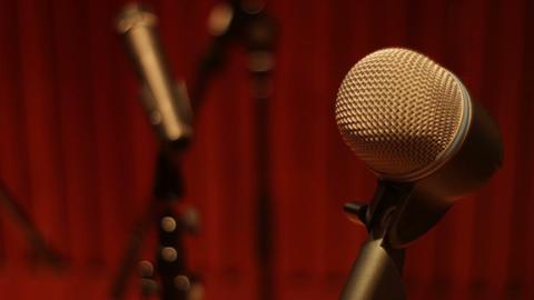 Recording studio audio microphones compilation shot in a music studio Footage