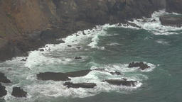 Ocean Waves In Rocks And Cliffs Live Action