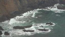 Ocean Waves In Rocks And Cliffs Footage