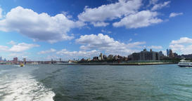View of Brooklyn Skyline as Seen from East River Ferry Footage