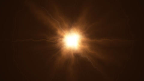 Orange bright sun Animation