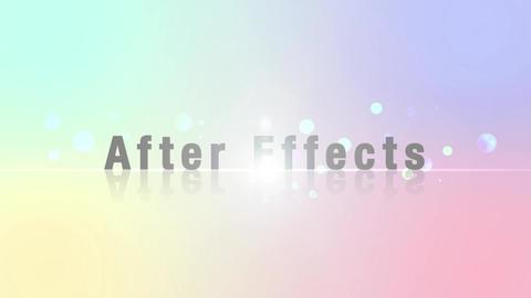 タイトルモーション光から出現 After Effectsテンプレート