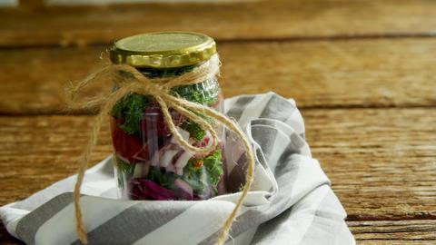 Vegetables kept in jar 4k Live Action