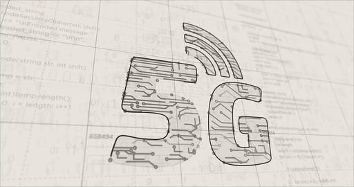 5g mobile network futuristic sketch Animation