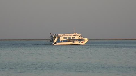 Sea Tourism On Passenger Ferry Live Action