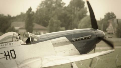 Steering war airplane vintage shot world war two style Footage
