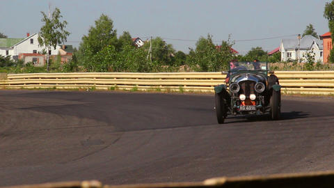 Pre-war vintage cabriolet car Bentley 4 1 2 Tourer Footage
