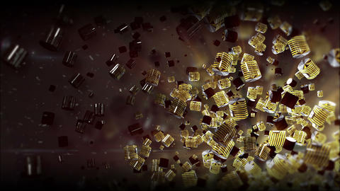 Tao Cilinder Yellow metal texture 2 Background Animation
