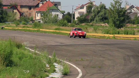 Legendary German Porsche 356C on the road Footage