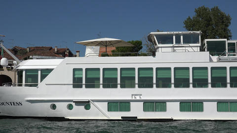 Luxury River Cruise Ship Footage