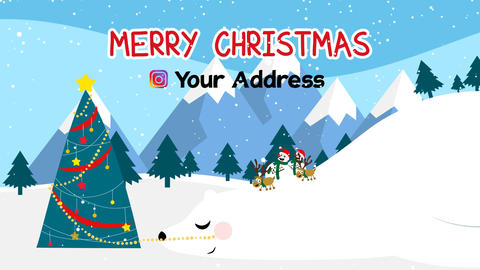 Neo Christmas Snowman MOGRT Motion Graphics Template