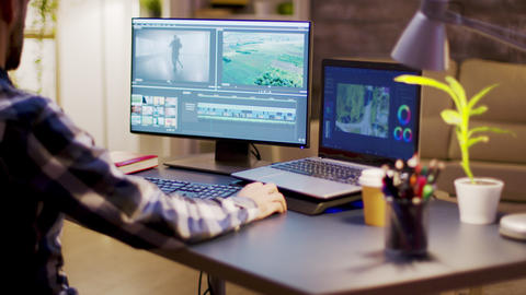 Film maker using modern software for post production Live Action