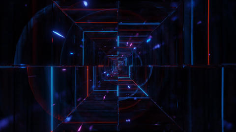highly abstract glowing wireframe fragments 3d illustration live wallpaper Animation