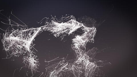 Particle abstract animation. Background light animation Live Action