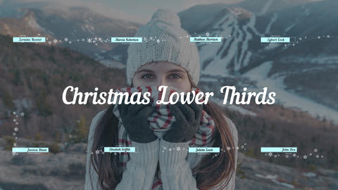 Christmas & New Year Lower Thirds Motion Graphics Template