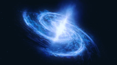 Fly through stars in the gas cloud. Cosmic nebula in the form of the spiral. Gas Cloud Deep Space. Animation