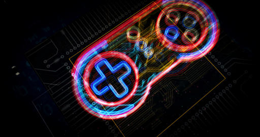 Cyber sport game pad symbol futuristic animation Animation