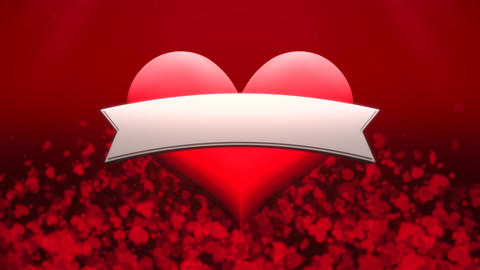 Animation closeup motion romantic heart on Valentine's day shiny background Animation