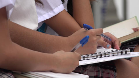 Students Writing In Notebooks Footage