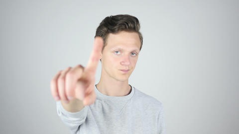 Man Rejecting Offer, Not Allowing, Isolated Gesture Footage