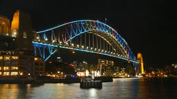 Sydney Harbour Bridge Night Footage