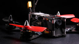 Racing drone quadcopter multirotor Footage