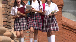 Teen Girls Carrying Books Live Action
