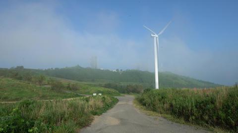 Wind generator road Footage