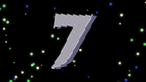 Countdown with Firework Stock Video Footage
