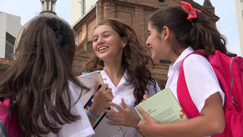 Excited Teen Girl Friends Live Action