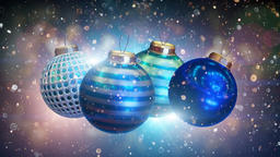 White Christmas Baubles CG動画